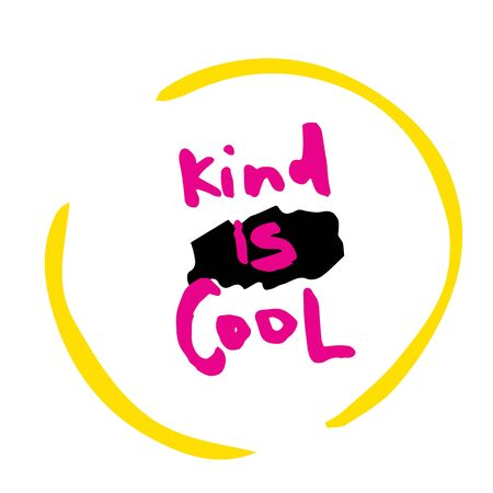 Kind is Cool slogan for t-shirt, poster, greeting card. Vector typography design. Ilustrace