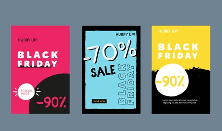 Modern Black Friday grunge badge deal label, promo banner with circle, star background. Price tag badge, speech bubble Ilustrace