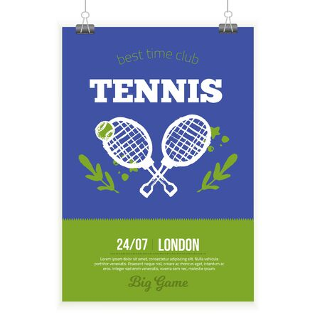Tennis Poster in grunge style