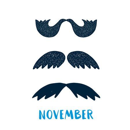 Simple Mustache November poster Ilustrace