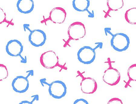 Seamless gender pattern.