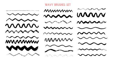 Wavy Brush ink set.