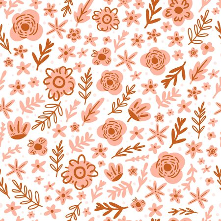 Floral seamless pattern vector design.