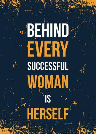 Feminism poster print. Female typography illustration.