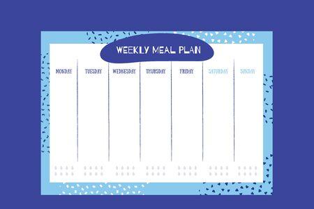 Weekly meal planner design