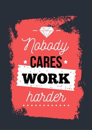 Work harder typography poster design, background quote, success typography wallpaper for gym. 向量圖像