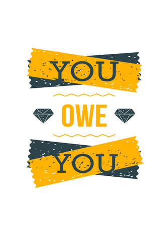 Love Yourself. Inspirational and motivational typography quote for your designs: t-shirts, bags, posters, invitations, cards, etc.
