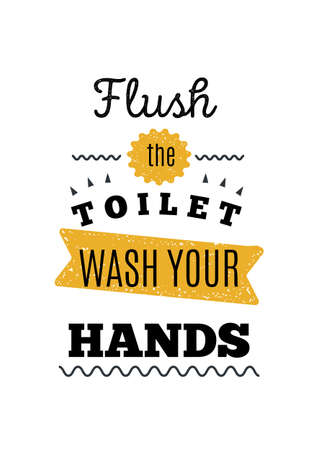 wash hands Bathroom Print design, toilet decoration in A4 format, restroom illustration, creative placard