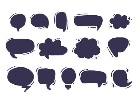 Empty Grunge speech and thought bubbles. Vector illustration Ilustrace
