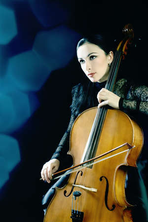 Cello cellist musician classical musical instrument photo