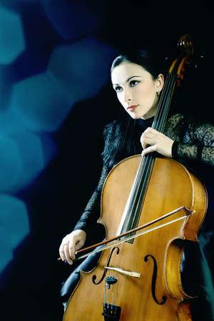 Cello Cellist Musiker klassische Musikinstrument