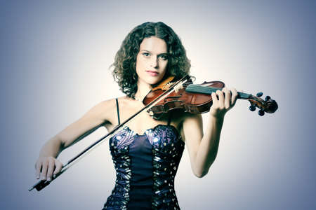 Violinist violin player young musician woman photo