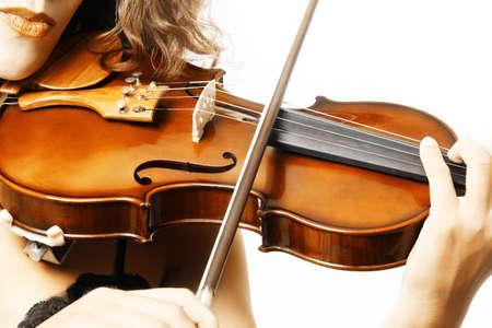 Violine Musikinstrumente Geigerin Hand. Klassische Musiker Orchestermusik spielen
