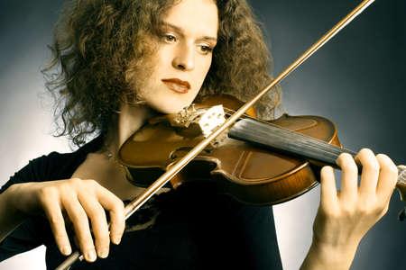 Violin Player Geigerin Orchestermusiker klassischen Musikinstrument
