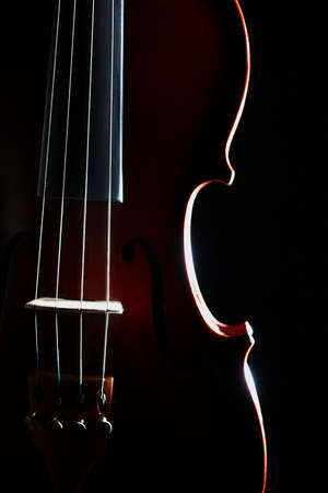 stringed: Violin orchestra musical instruments Stock Photo