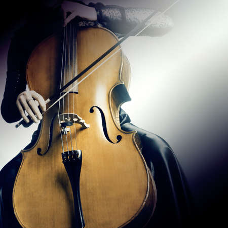 young musician: Cello orchestra musical instruments Stock Photo