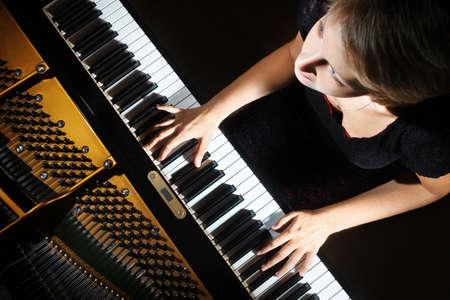 Piano player Standard-Bild