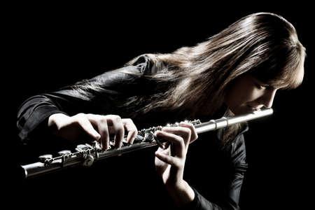 flute: Flutist Stock Photo