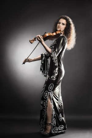 Violin player musician violinist woman photo