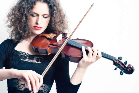 Violin violinist playing  Classical music orchestra player