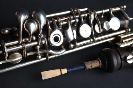 oboe: Oboe woodwind musical instruments Stock Photo