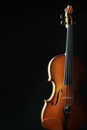 violines: Violin orchestra instrumentos musicales silueta cl�sica en negro
