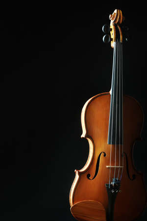 violins: Violin orchestra musical instruments  Classical silhouette on black