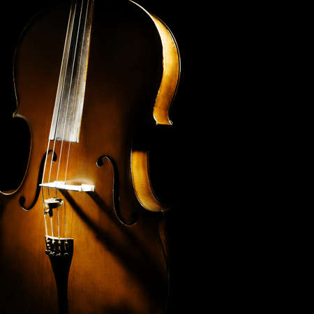 musical: Cello orchestra musical instruments Stock Photo