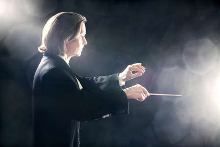 conducting: Orchestra conductor music conducting inspired maestro