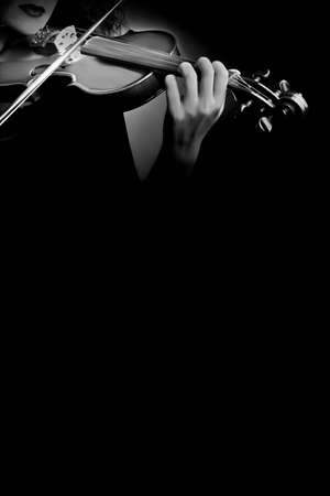 Violin musical instruments of symphony orchestra concert photo