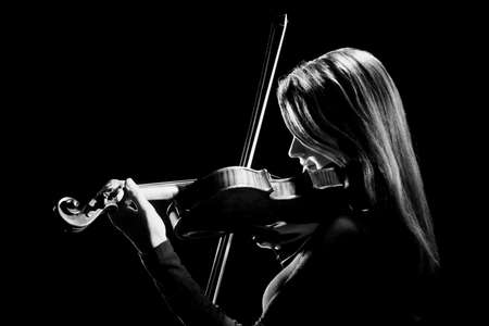 Violin player violinist Musical instruments of orchestra Playing classical musician Foto de archivo