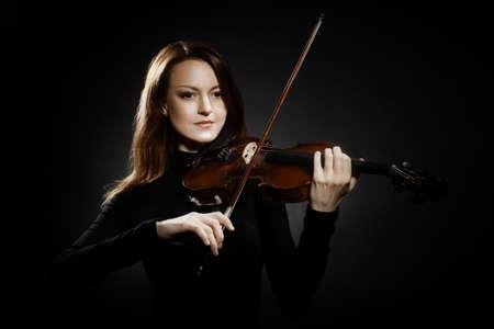 violinista: Jugador del viol�n violinista m�sico cl�sico Foto de archivo