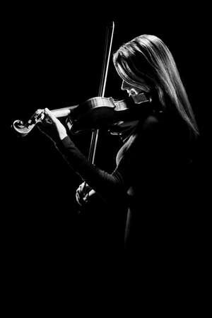 violinista: Jugador del viol�n violinista de m�sica cl�sica m�sico concierto tocando el viol�n Foto de archivo