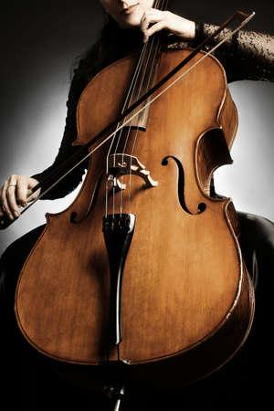 Cello close Muziekinstrumenten close-up Stockfoto