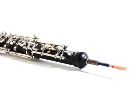 Oboe Musical instruments isolated close up