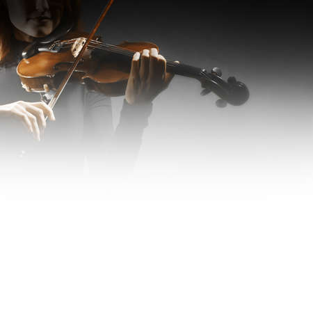 Violin player violinist playing classical music. Orchestra musical instruments