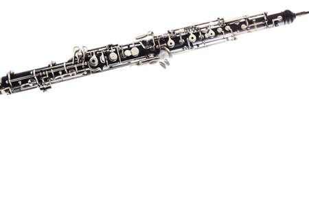 oboe: Oboe Musical instruments isolated on white background close up