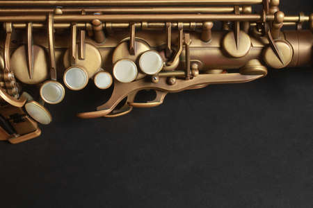 Saxophone Alto Sax Jazz Musikinstrumente Nahaufnahme Standard-Bild