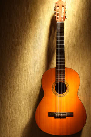 Acoustic guitar classical guitar musical instruments Stock Photo