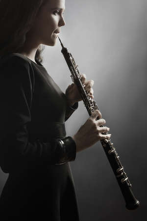 oboe: Oboe classical musician playing classic oboist