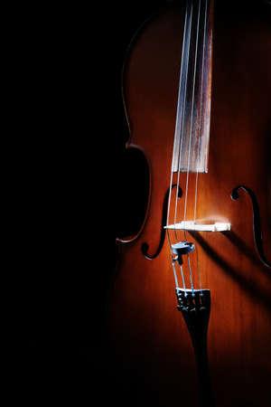 violoncello: Cello classical music instruments violoncello isolated on black Stock Photo