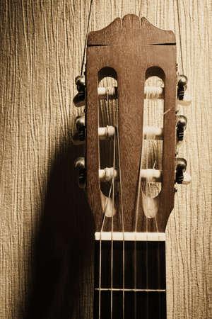 tête de guitare acoustique guitare classique