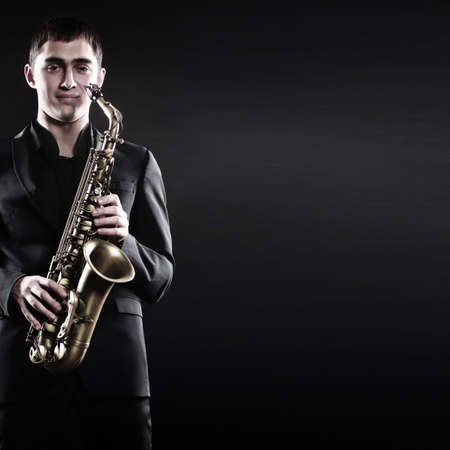 payer: Saxophone payer Saxophonist jazz man playing sax alto