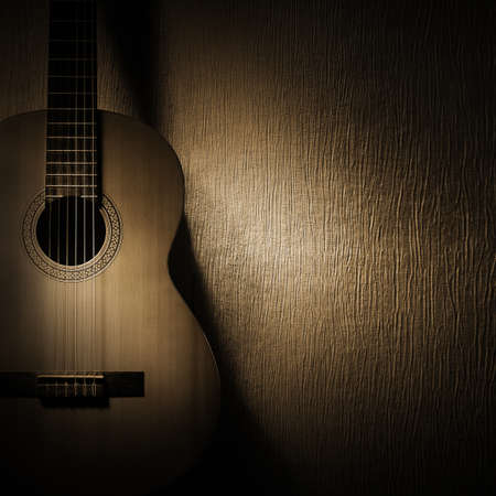 Klassische Gitarre Akustikgitarre Musikinstrumente Nahaufnahme