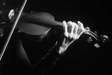 violin player: Violin player Violinist playing violin Hands with musical instruments Stock Photo