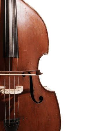 Ancien instrument de contrebasse contrebasse orchestre se bouchent Banque d'images