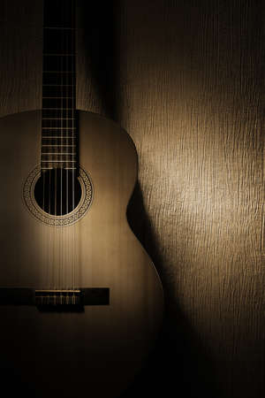 Acoustic guitar classical music instrument