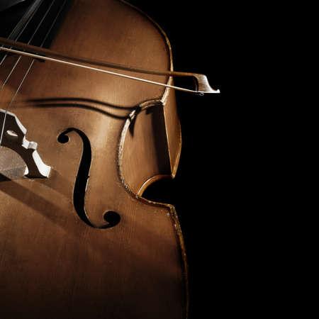 Contrebasse contrebasse . cordes avec noeud Banque d'images - 92115194