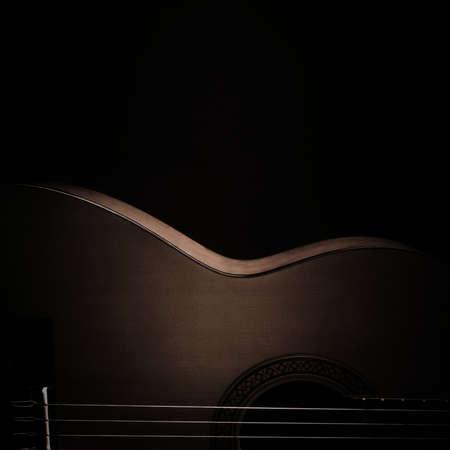 Acoustic guitar classical spanish guitar close up. Classic musical instruments Standard-Bild