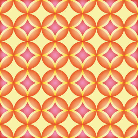 rounds: Seamless pattern, geometric pattern, abstract, rounds pattern. Modern stylish texture, pattern with orange and pink ornament. Illustration